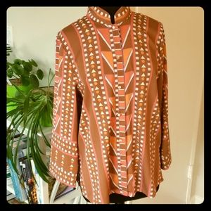 Bob Mackie button down blouse M